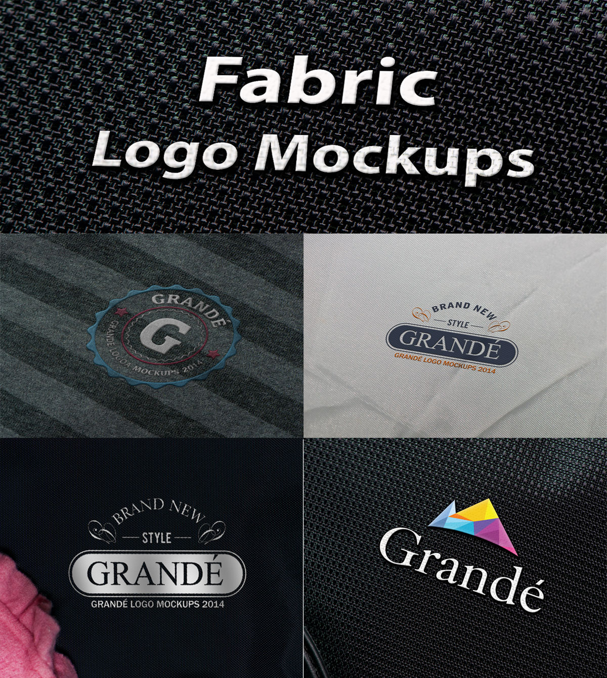 PSD Шаблон Fabric Logo Mock-ups (том 1)