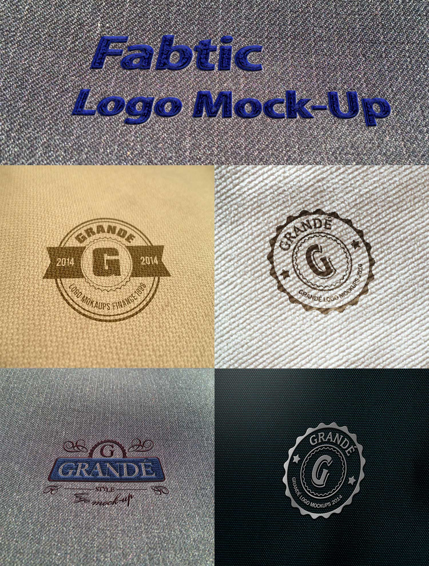 PSD Шаблон Fabric Logo Mock-ups (том 2)