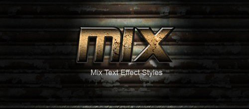 Mix Text Effect Styles