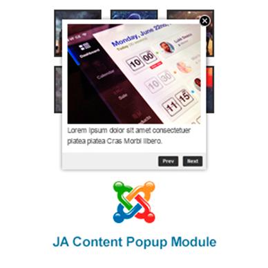 JA Content Popup