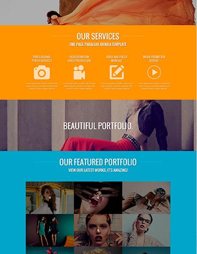 OS One Page Portfolio