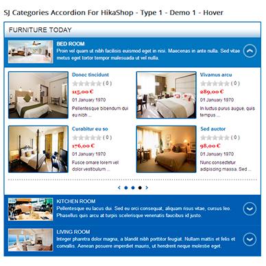 SJ Categories Accordion for HikaShop