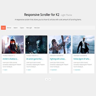 Responsive Scroller for K2