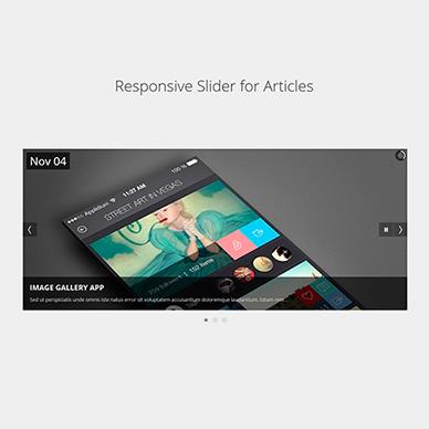 Responsive Slider for Articles