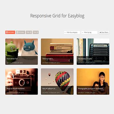 Responsive Grid for EasyBlog