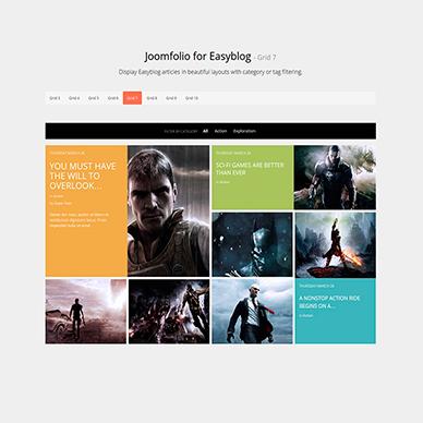 Joomfolio for EasyBlog