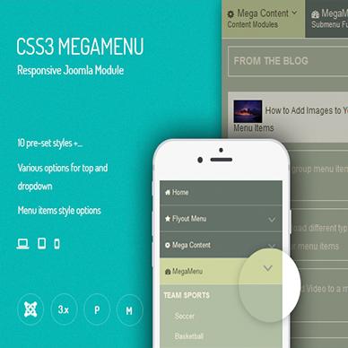 JUX CSS3 Mega Menu