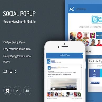 JUX Social Popup