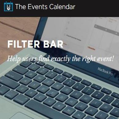 The Events Calendar:Filter Bar